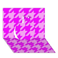 Houndstooth 2 Pink Apple 3d Greeting Card (7x5)