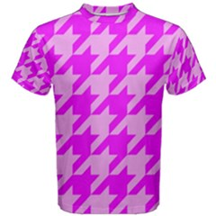 Houndstooth 2 Pink Men s Cotton Tees