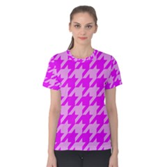 Houndstooth 2 Pink Women s Cotton Tees