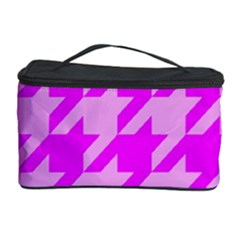 Houndstooth 2 Pink Cosmetic Storage Cases