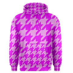 Houndstooth 2 Pink Men s Pullover Hoodies