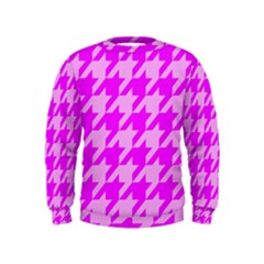 Houndstooth 2 Pink Boys  Sweatshirts