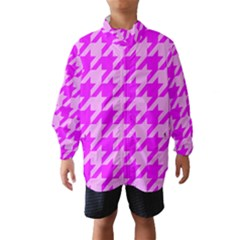 Houndstooth 2 Pink Wind Breaker (Kids)