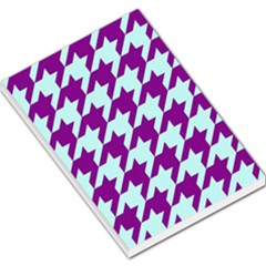 Houndstooth 2 Purple Large Memo Pads