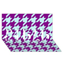 Houndstooth 2 Purple #1 DAD 3D Greeting Card (8x4)