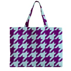 Houndstooth 2 Purple Zipper Tiny Tote Bags