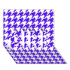 Houndstooth Blue GIRL 3D Greeting Card (7x5)