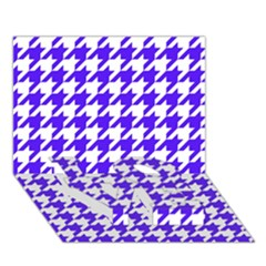 Houndstooth Blue LOVE Bottom 3D Greeting Card (7x5)