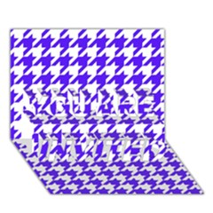 Houndstooth Blue YOU ARE INVITED 3D Greeting Card (7x5)