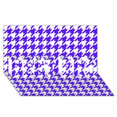 Houndstooth Blue BEST BRO 3D Greeting Card (8x4)