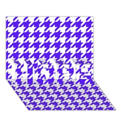 Houndstooth Blue HOPE 3D Greeting Card (7x5)