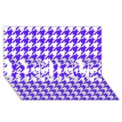 Houndstooth Blue Believe 3d Greeting Card (8x4)