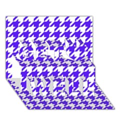 Houndstooth Blue Get Well 3D Greeting Card (7x5)