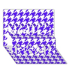 Houndstooth Blue You Rock 3D Greeting Card (7x5)