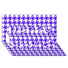Houndstooth Blue Merry Xmas 3D Greeting Card (8x4)