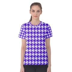 Houndstooth Blue Women s Cotton Tees