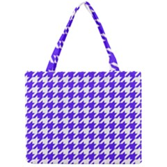 Houndstooth Blue Tiny Tote Bags