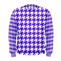 Houndstooth Blue Men s Sweatshirts