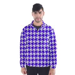 Houndstooth Blue Wind Breaker (Men)
