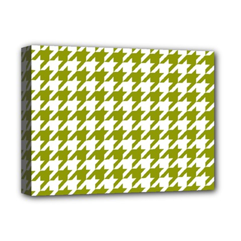 Houndstooth Green Deluxe Canvas 16  x 12