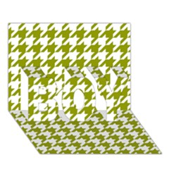 Houndstooth Green BOY 3D Greeting Card (7x5)
