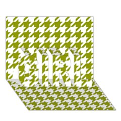 Houndstooth Green GIRL 3D Greeting Card (7x5)