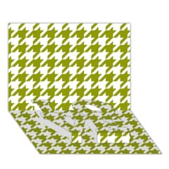 Houndstooth Green LOVE Bottom 3D Greeting Card (7x5)
