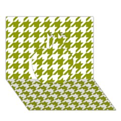Houndstooth Green Apple 3d Greeting Card (7x5)