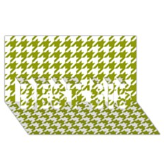 Houndstooth Green BEST SIS 3D Greeting Card (8x4)