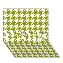 Houndstooth Green HOPE 3D Greeting Card (7x5)