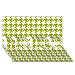 Houndstooth Green Believe 3d Greeting Card (8x4)