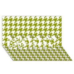 Houndstooth Green SORRY 3D Greeting Card (8x4)