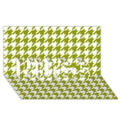 Houndstooth Green HUGS 3D Greeting Card (8x4)