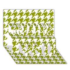 Houndstooth Green Thank You 3d Greeting Card (7x5)