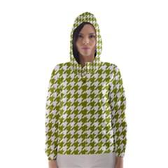 Houndstooth Green Hooded Wind Breaker (women)