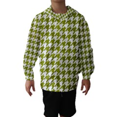 Houndstooth Green Hooded Wind Breaker (Kids)