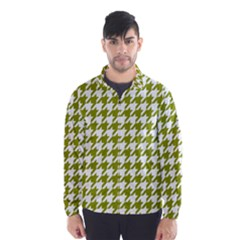 Houndstooth Green Wind Breaker (Men)