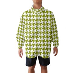 Houndstooth Green Wind Breaker (Kids)