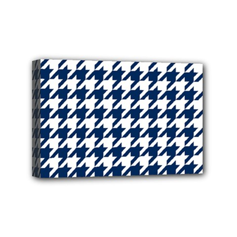Houndstooth Midnight Mini Canvas 6  x 4
