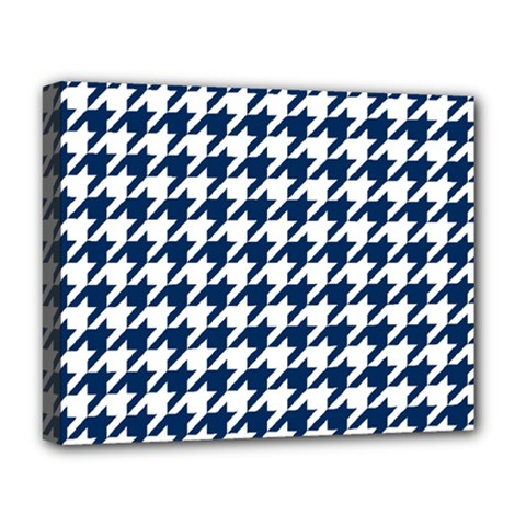Houndstooth Midnight Deluxe Canvas 20  x 16