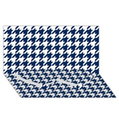 Houndstooth Midnight Twin Heart Bottom 3d Greeting Card (8x4)