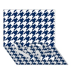 Houndstooth Midnight LOVE Bottom 3D Greeting Card (7x5)