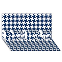 Houndstooth Midnight BELIEVE 3D Greeting Card (8x4)