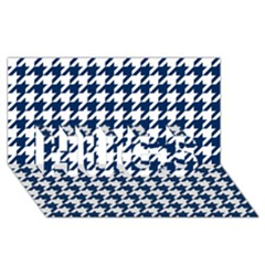 Houndstooth Midnight Hugs 3d Greeting Card (8x4)