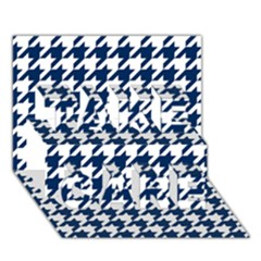 Houndstooth Midnight TAKE CARE 3D Greeting Card (7x5)