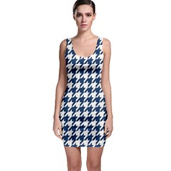 Houndstooth Midnight Bodycon Dresses