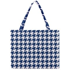 Houndstooth Midnight Tiny Tote Bags