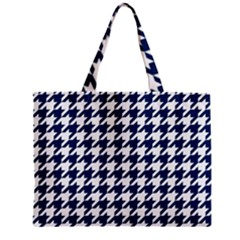 Houndstooth Midnight Zipper Tiny Tote Bags