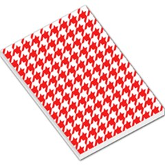 Houndstooth Red Large Memo Pads