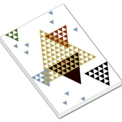 Colorful Modern Geometric Triangles Pattern Large Memo Pads